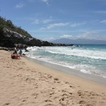 Choppy waves, no good for snorkelling, but great for boogie boarding! April 27/11