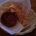 SPICY salsa, warm nachos