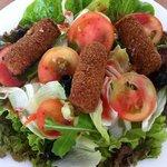 fried mozzarela salad