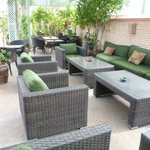 Seating on roof terrace