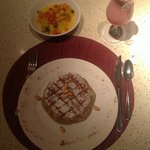 Casserole - main dish chicken b'stilla, top left couscous, top right Rasa Berry