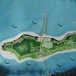Der Plan der Insel