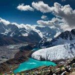 View from Gokyo Peak Everest Region Nepal