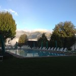 The swimming pool in the morning