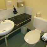 Ensuite vanity and toilet
