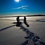 Ice fishing in wonderland