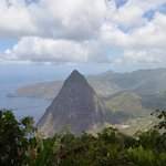 Bonus view of Pitons if you hike to second lookout.