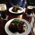 traditional bangers & mash washed down nicely with Guinness!