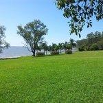 Parque que da al Rio Paraná.