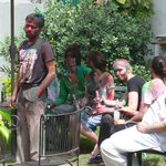 Holi in the garden.
