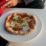 Yummy pizza at the terrace bar