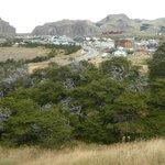 Vista del pueblo del Chalten