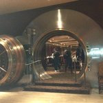 Del Frisco's Double Eagle Steak House in old bank building.  Touring the bank vault.