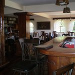 Bar and dining area  - gorgeous woodwork throughtout
