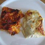 lasagne bianche e rosse