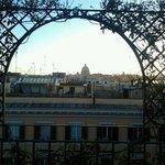 vue de la terrasse lors du petit déjeuner...