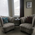 Sandstone Room - deluxe king seating area, Cranford Inn Bed and Breakfast, Charlottetown PEI