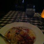 firecracker prawn pasta dish