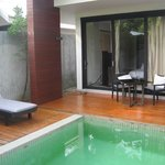 Private terrace in Villa 11 with pool