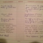 recent reviews in our guest book