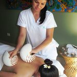 A tropical massage in our spa