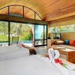 A beachfront bungalow interior