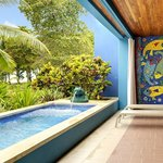 Our Deluxe Beachfront Villas include a private plunge pool