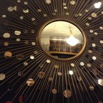 Sun mirror in the library at the Cavendish