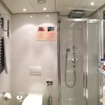 bathroom, nice and moderm with great shower and bidet