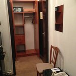 Wardrobe with extra blanket and security safe
