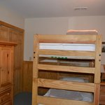 Bunk beds in one of the upstairs rooms