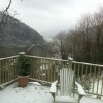 view from snow covered deck 1