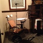 Dental equipment from the turn of the 19th century was originally used by Dr. Anna Cluthe, Evans