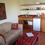Single Room Sitting Area and Kitchenette