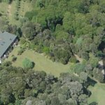 Morepork Riverside Lodge from the air