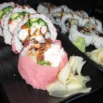 Spider roll and Eel roll