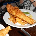 Windham Beer Battered Fish, Proper Chips and Mushy Peas