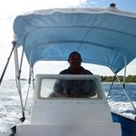 Renny taking us to Water Cay