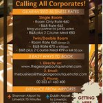 Calling al Corporates to The George Boutique Hotel, Limerick City