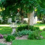Set in lush gardens