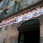 Restaurant entrance of street