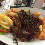 Lamb with pan fried veg and potatoes