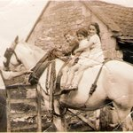 Great Grandfather Bowles at Church Farm in early 1900s