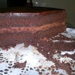 most luscious, fudgy chocolate cake at Pear Tree Cafe!!