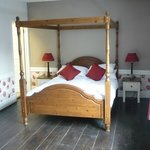 Our four-poster bed in room 3
