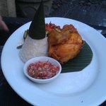 Fried marinated chicken