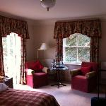 Photo of our Bedroom with the Sun coming through the Veranda Doors
