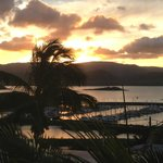 Airlie Beach sunset from our room