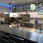 Gleaming chrome interior of the Chippy