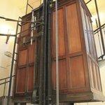 19th Century Mahogany Elevator